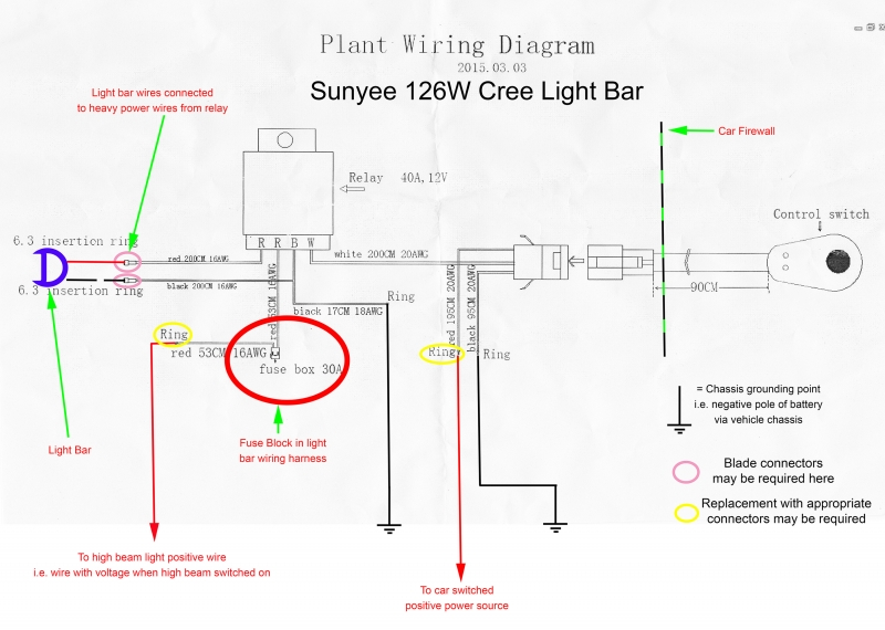 Sunyee au+126W+Light+Bar+wiring+diagram+Modified 2_small cree light bar wiring diagram whelen light wiring diagram \u2022 wiring cree led light bar wiring harness at webbmarketing.co
